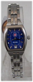 Chicago Cubs Fossil Watch Womens 3 Hand Date Wristwatch MLB1009