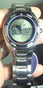 New England Patriots Fossil Watch Mens Flashing Logo Kaleido NFL1006