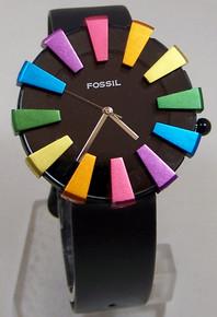 Fossil Vintage Watch Womens 12 Colorful Fan wristwatch JR-7519 Ladies