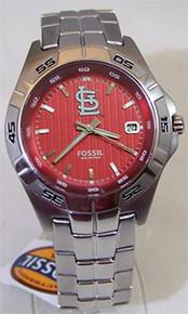 Saint Louis Cardinals Fossl Watch Mens Three Hand Date Wristwatch