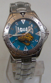 Jacksonville Jaguars Fossil Watch Jax Jags Mens Stainless Vintage 98
