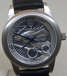 Fossil Police Watch Protect and Serve Policemen Wristwatch LE 1000
