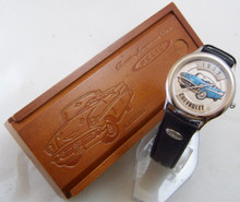 Fossil 1957 Chevy Watch Relic Chevrolet Car Wristwatch in Wood Box