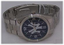 New York Yankees Watch Mens Game Time Elite Pinstripes Wristwatch