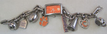 Clemson Tigers Fossil Ladies Watch Womens Charm Bracelet Wristwatch