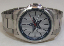 Dallas Cowboys Watch Avon Release Mens 3 Hand Silver Tone Wristwatch