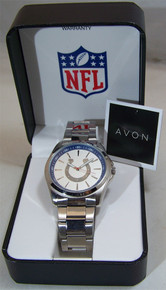 Indianapolis Colts Watch Avon Release Mens 3 Hand Silver Wristwatch