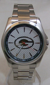 Green Bay Packers Watch Avon Mens Three Hand Silver Tone Wristwatch