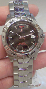 Texas Tech Raiders Fossil Watch Mens 3 Hand Date Wristwatch Li2967