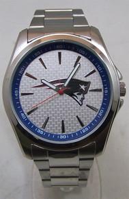 New England Patriots Watch Avon Release Mens 3 Hand Silver Wristwatch