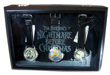 Nightmare Before Christmas Watch Display Case Black Wood