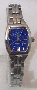 Florida Gators Watch Fossil Ladies Three Hand Date Wristwatch Li3012