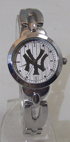 New York Yankees Watch Silver Game Time Elegance Wristwatch