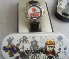 Fossil Cleveland Browns Watch Vintage 1995 Mens Collectors Wristwatch