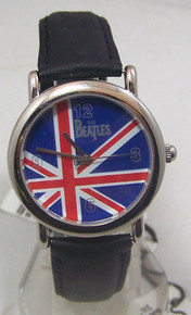 The Beatles Watch  Beatles Name and Flag in Wooden Guitar display case