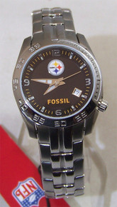 Pittsburgh Steelers Fossil Watch Ladies womens Sports Wristwatch