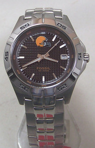Cleveland Browns Fossil Watch Mens Three Hand Date Wristwatch NFL1112