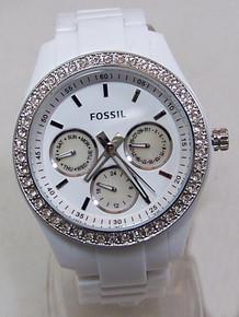 Fossil White Watch Stella Ladies womens Multifunction Glitz ES1967
