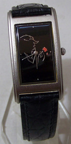 Beauty and The Beast Watch Broadway Musical Black Silver Wristwatch