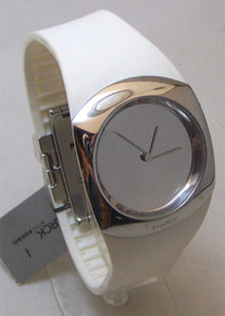 Philippe Starck Watch White Mirror Dial Wristwatch PH5042 Unisex New