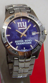 NY New York Giants Watch Fossil Super Bowl XLII Wristwatch New