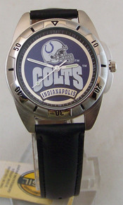 Indianapolis Colts Watch Fossil Mens Vintage 1995 Wristwatch With Tin