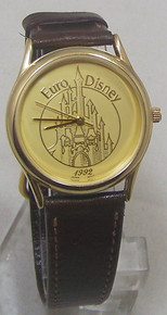 Euro Disney Watch 1992 Apollo Gold Tone Commemorative Wristwatch LE