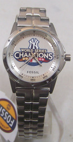 New York Yankees Fossil Watch 2009 World Series Champions Womens New