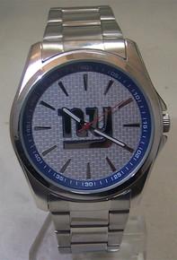 New York Giants Watch Avon Release Mens 3 Hand Silver Tone Wristwatch