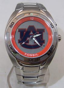 Auburn Tigers Fossil Watch Mens Kaleido Flashing Logo Wristwatch