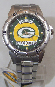 Green Bay Packers Fossil Watch Mens 1997 Vintage SS in Tin Li1726