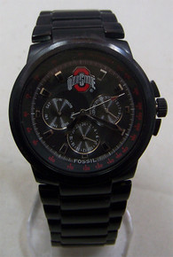Ohio State Buckeyes Fossil Watch Mens Multifunction Black IP LI2705