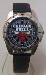 Chicago Bulls Fossil Watch Mens Vintage 1995 NBA 50th Wristwatch
