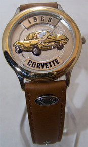 63 Corvette Stingray Watch Fossil Relic 1963 Gold Set Car Wristwatch