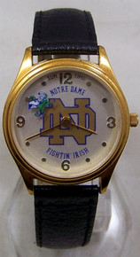 Notre Dame Watch Sun Time Fighting Irish Wristwatch 36mm Unisex