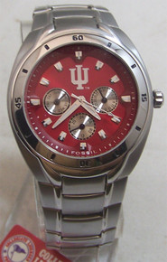 Indiana Hoosiers Fossil Watch Mens Multifunction Wristwatch Li2804