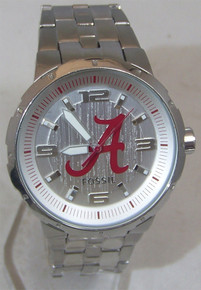 Alabama Crimson Tide Fossil Watch Mens Large Logo Wristwatch Li3063