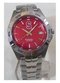 Stanford University Fossil Watch Mens Three Hand Date Wristwatch