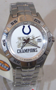 Indianapolis Colts Watch Super Bowl XLI  Fossil NFL1079 Wristwatch