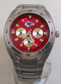Kansas City Chiefs Fossil Watch Mens Multifunction Wristwatch NFL1074