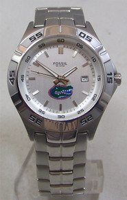Florida Gators Fossil Watch Mens 3 Hand Date Wristwatch 6 O'clock Logo