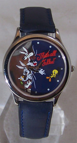 Looney Tunes Watch Thats All Folks Bugs Bunny & Friends Wristwatch