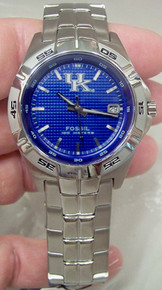 Kentucky Wildcats Fossil Watch. Mens Three Hand Date Wristwatch Li2768