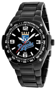 Kansas City Royals Watch Mens MLB Black Stainless Gladiator Wristwatch