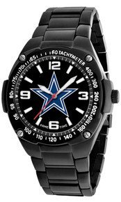 Dallas Cowboys Watch Mens Black SS Game Time Gladiator Wristwatch