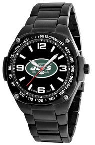 NY New York Jets Watch Mens Black SS Game Time Gladiator Wristwatch