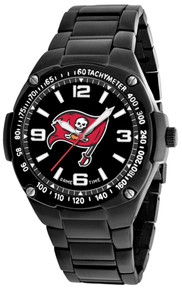 Tampa Bay Bucs Watch Mens Black SS Game Time Gladiator Wristwatch