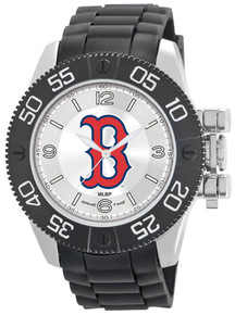 Boston Red SoxWatch Game Time Beast Mens Black Wristwatch B Logo