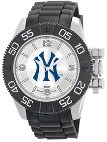 NY New York Yankees Watch Game Time Beast Mens Black Pinstripe Logo
