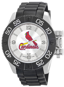 St Louis Cardinals Watch Game Time Beast Mens Black Wristwatch MLB